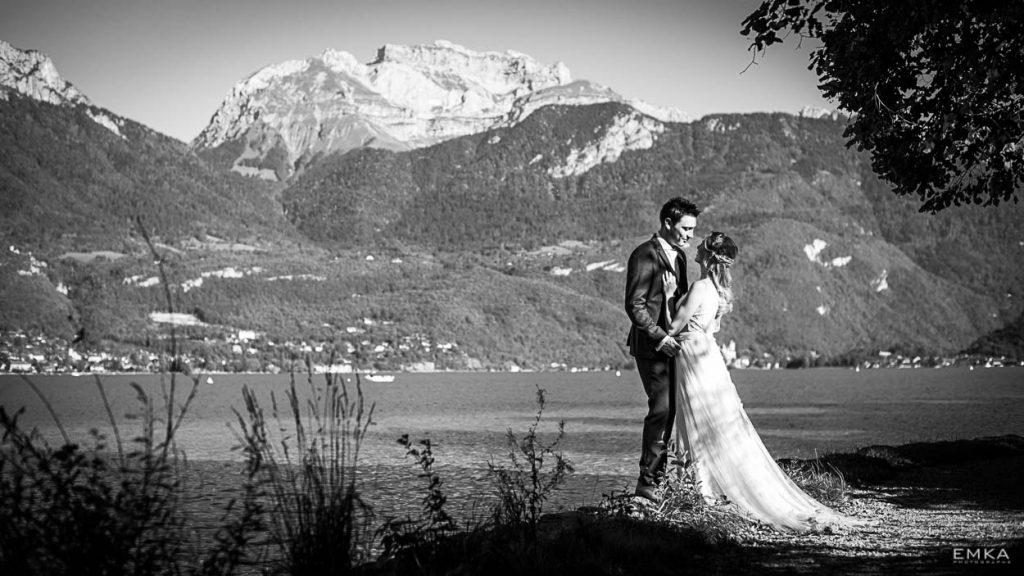 Photographe Mariage Annecy Elodie et Audric - Couple au bord du lac - Day After - Jour d'après