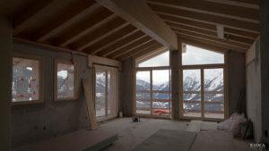 EMKA Photographe - Annecy - La Rosière - Reportage de Chantier - Construction Bâtiment - Vue intérieure