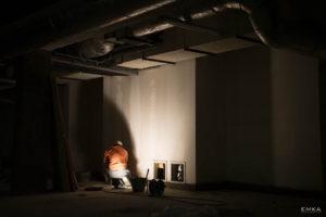 EMKA Photographe - Annecy - Montchavin - Reportage de Chantier - Peintre