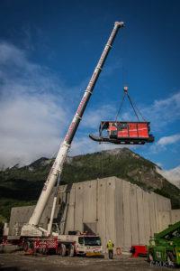 EMKA Photographe - Annecy - Ugine - Savoie - Reportage de Chantier - Construction Bâtiment Chaudière biomasse bois - Manutention et levage