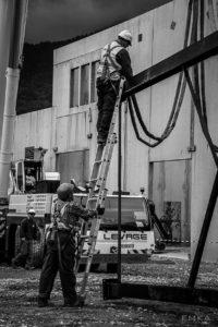 EMKA Photographe - Annecy - Ugine - Savoie - Reportage de Chantier - Construction Bâtiment Chaudière biomasse bois - Levage