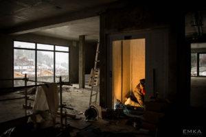 EMKA Photographe - Annecy - La Clusaz - Reportage de Chantier - Ascenseur