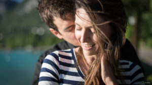 Engagement - Menthon Saint Bernard - Haute Savoie - Coucher de soleil