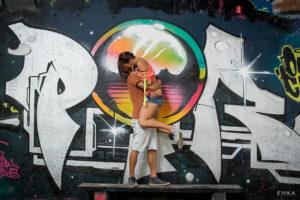 Engagement - Annecy - Street art - Haute Savoie